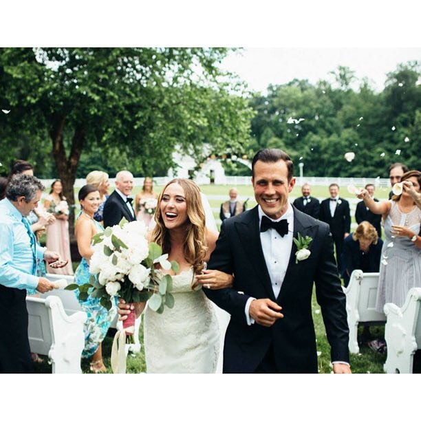 I adore the expression of pure happiness in this photo! The bride @shawnasabato--who is freaking model gorgeous--designed every aspect of her big day on her parent's Maryland farm, including placing our pews in an apple grove on her parents property!  And that bouquet--made by her hubby!   In awe. ? by @jeanlaurentgaudy#vintagerentals #vintage #weddings #eventstyling #weddingflorist #weddinginspo  #weddings #wedding #dcwedding #vintageweddings #farmwedding #marylandwedding #floraldesign  #weddinginspiration #eventdecor #acreativedc #bride #groom #weddingphotos