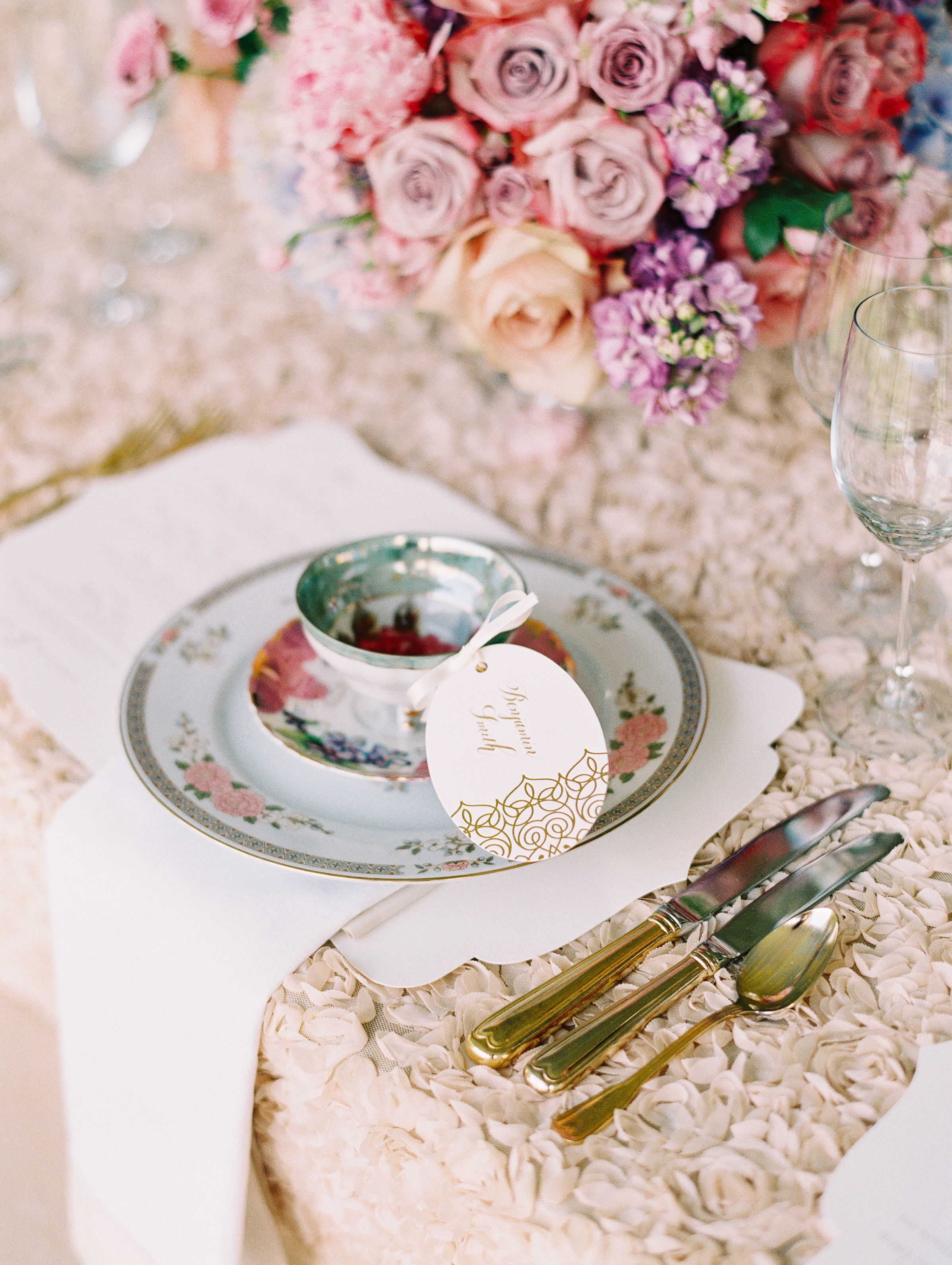 Vintage china wedding virginia