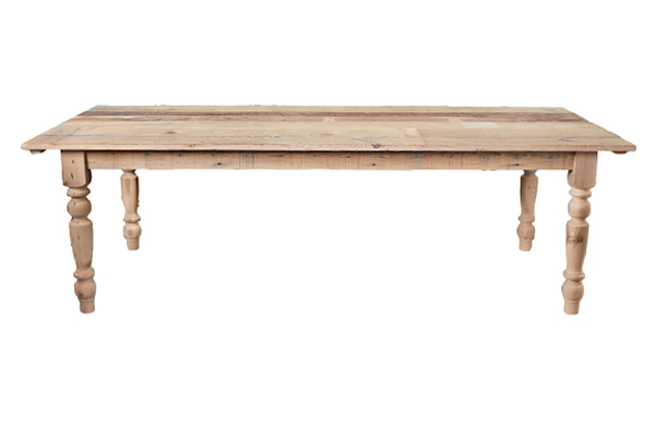 THE NATURAL: RECLAIMED WOOD FARM TABLE
