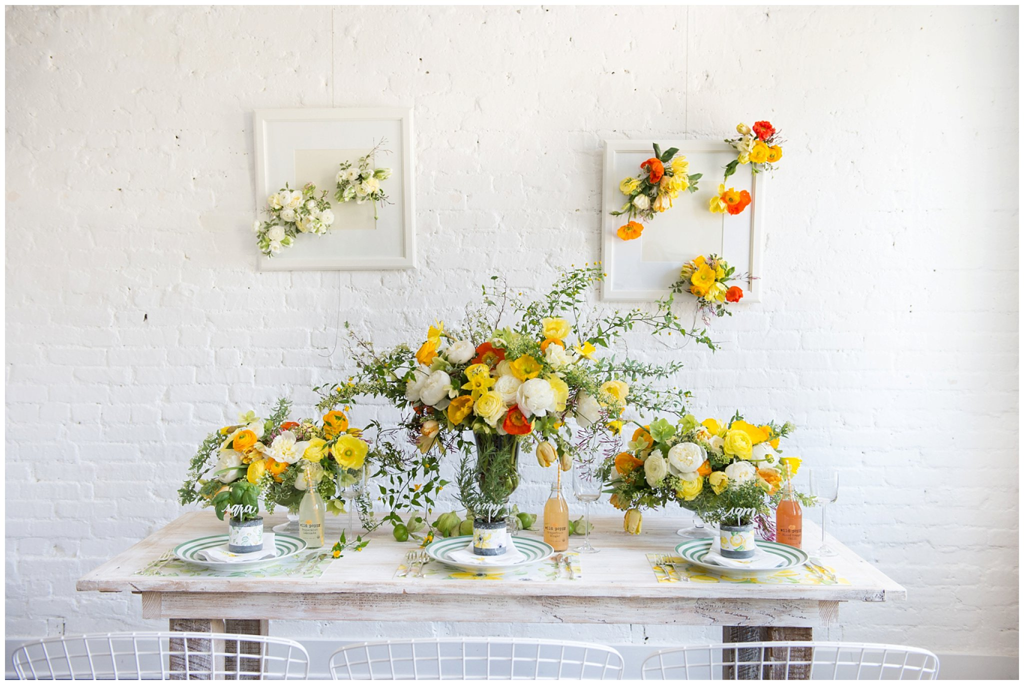 white farm table rentals DC