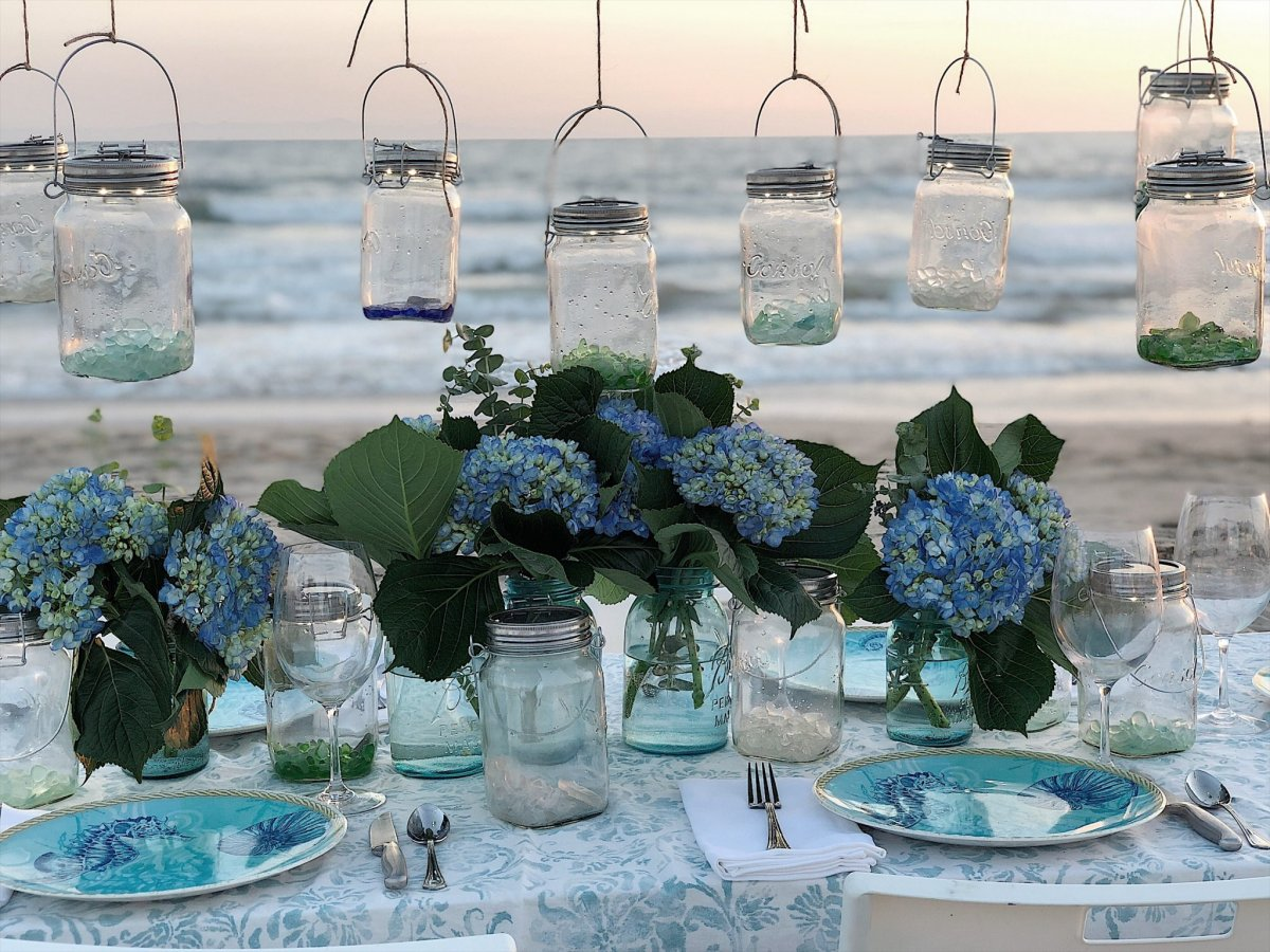 Hydrangea Flowers on the Beach