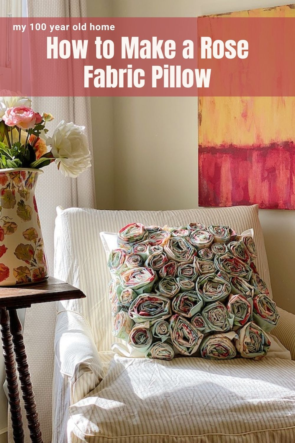 how to make a flower craft pillow my