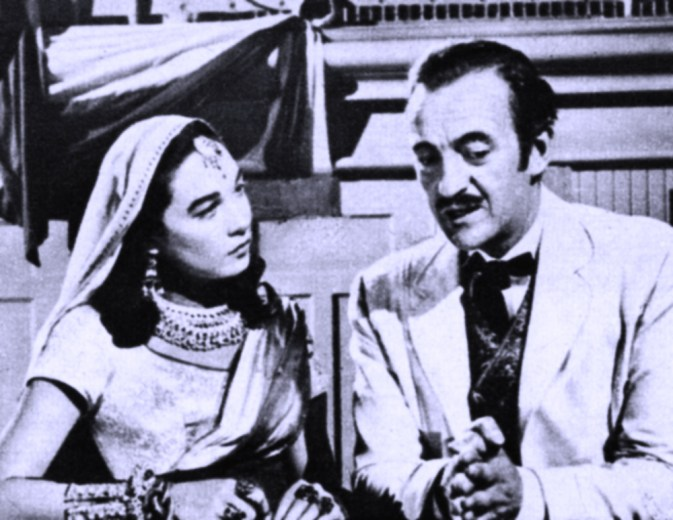 """Who's the girl? It's Shirley in the role of a Hindu Princess in """"Around The World in Eighty Days."""" David Niven starred."""
