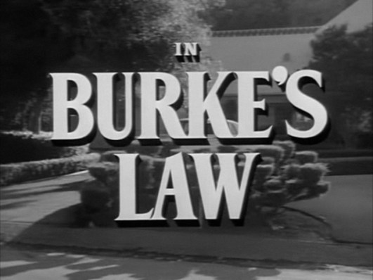 Burke's Law title card