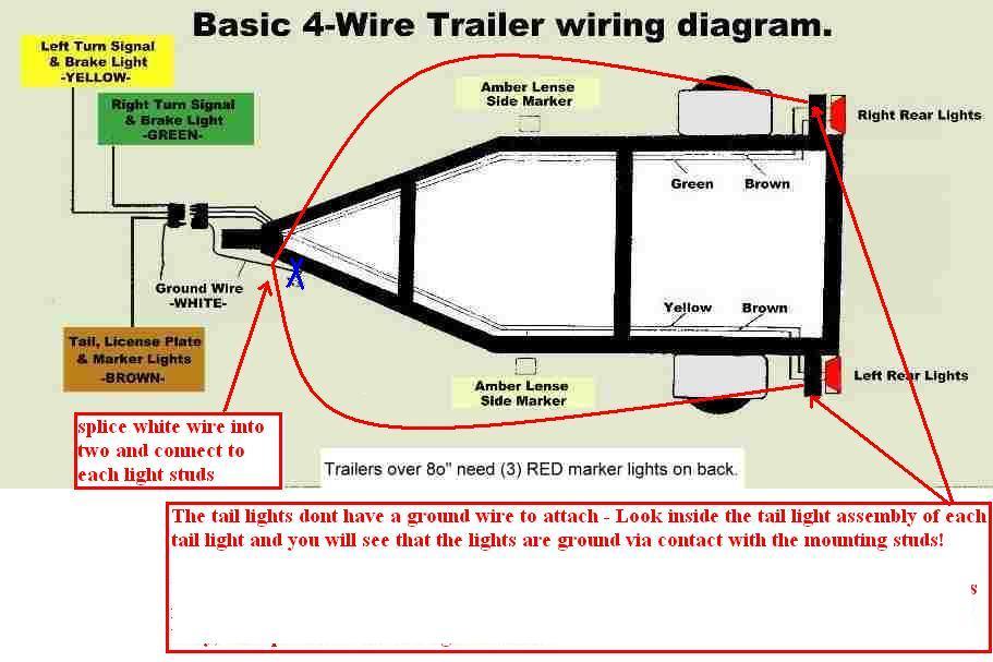 wiring diagram basic trailer 4 wire wiring wiring diagrams, electrical wiring, 4 flat trailer wiring diagram