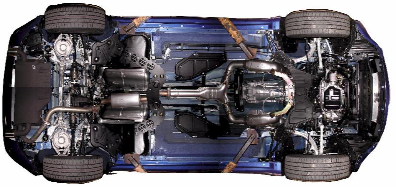 Exhaust Stock 350z Nissan Underside