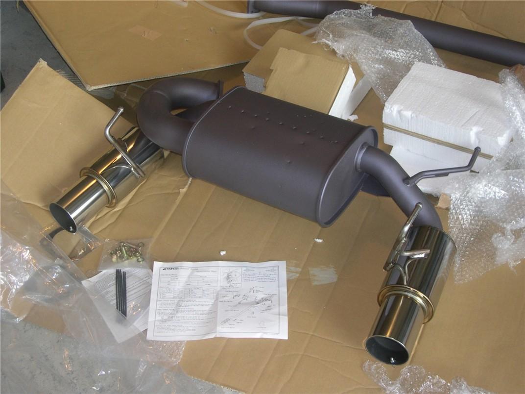 apexi n1 cat back exhaust install pics