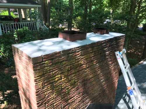 Chimney RX - Brushable Crown Repair installed