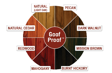 Deck Repair color pinwheel for stain