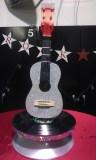 "Rotating guitar centerpiece and handmade ""Rock Star"" banner"