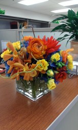 Flowers add color and elegance
