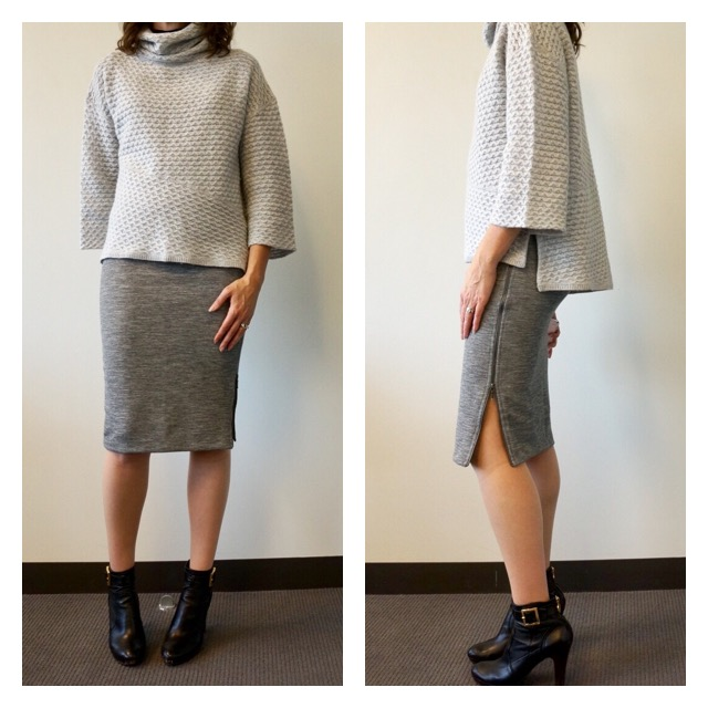 Cozy Sweater Zip Pencil Skirt my9to5shoes