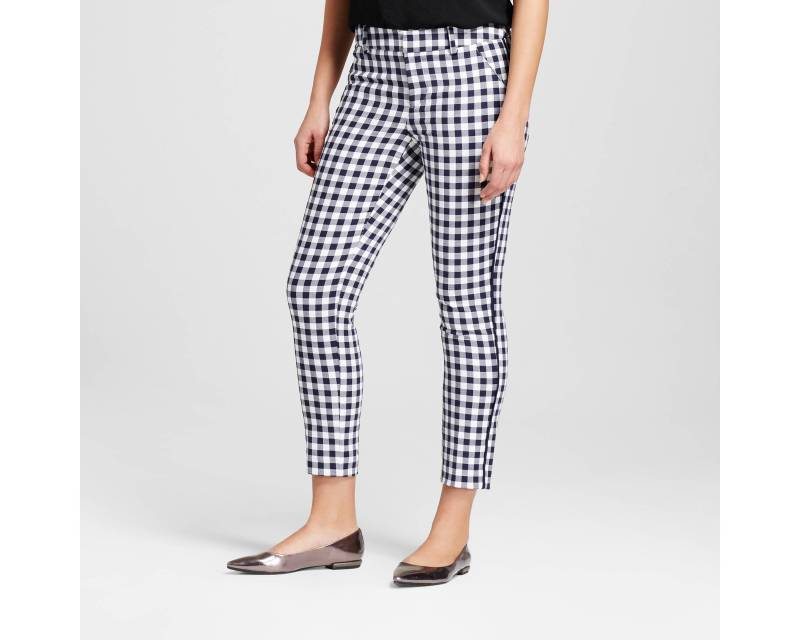Women's Printed Classic Ankle Pant - Merona™ Xavier Navy