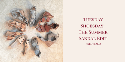 My 9 to 5 Shoes Summer Sandal Edit (Neutrals)