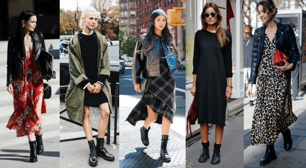 How to Style Combat Boots with a Dress