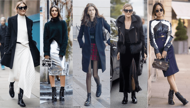 How to Style Combat Boots with a Skirt