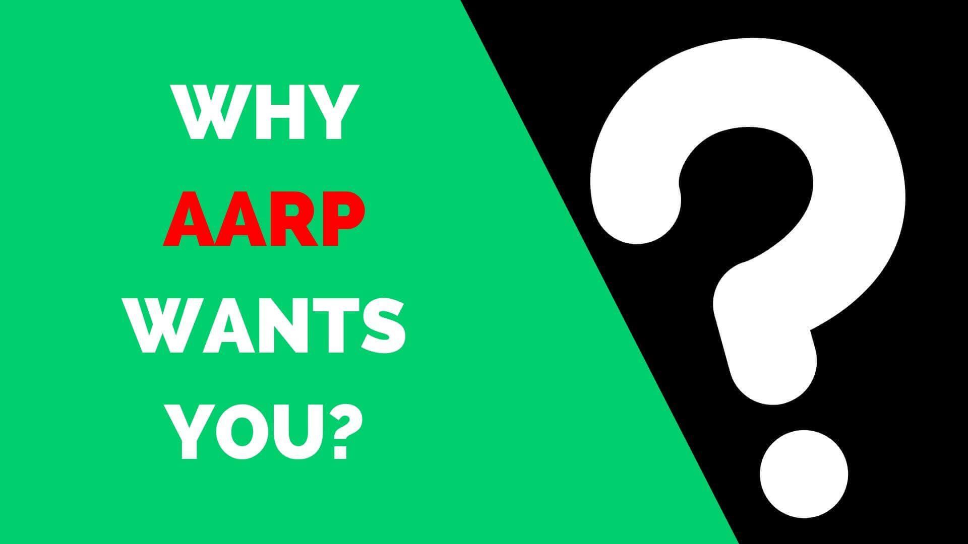 Why AARP Wants you to choose AARP Health Insurance?