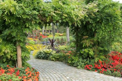 Pathways lead you to even more delightful plantings.