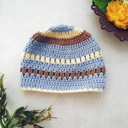 The creamy crochet baby beanie #crochet #baby #beanie