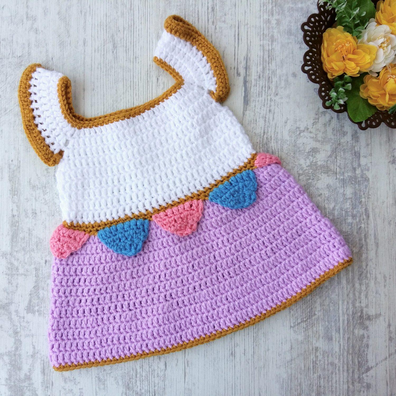 8df34193d Crochet Baby Dresses Patterns Free