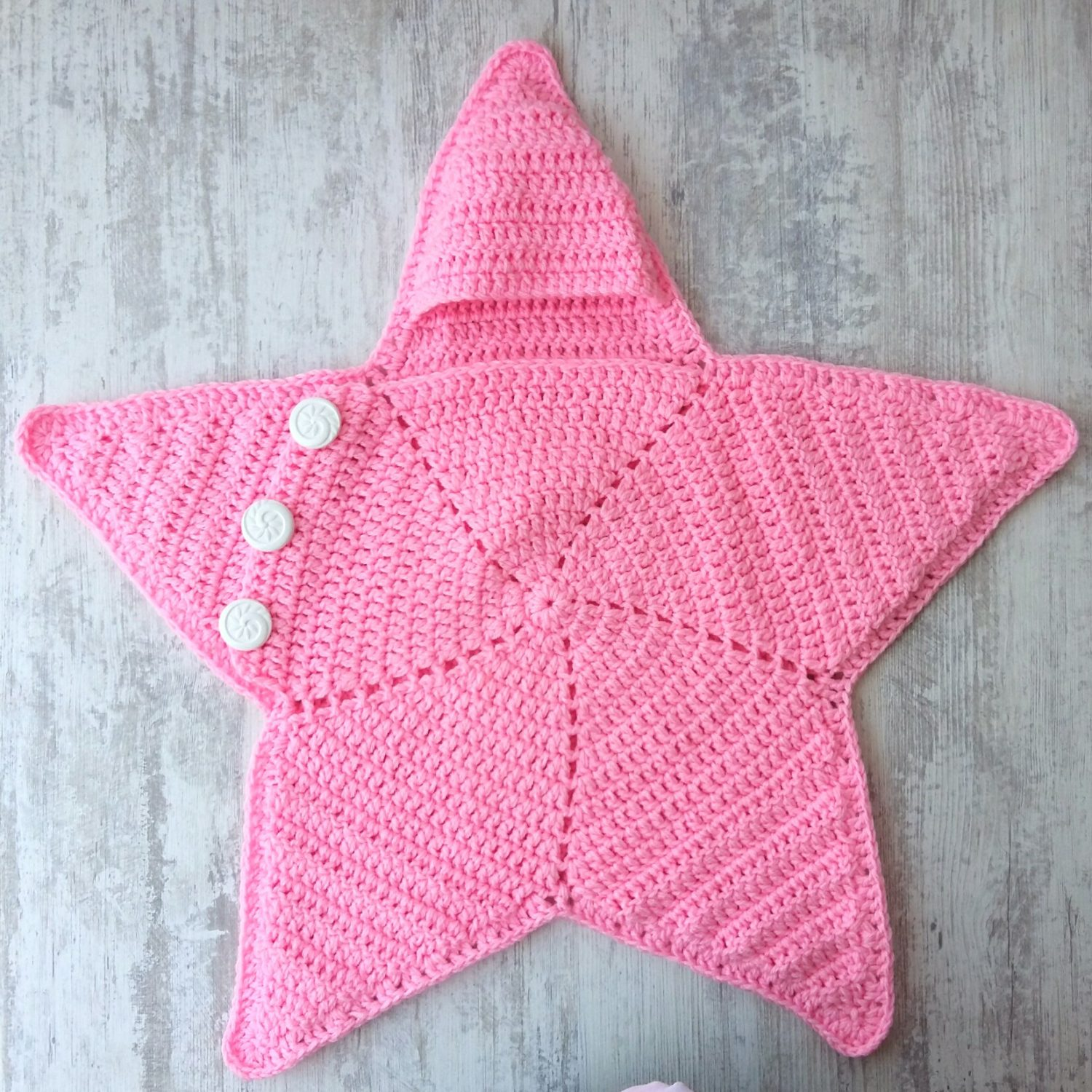 Crochet Baby Star Blanket Wrap