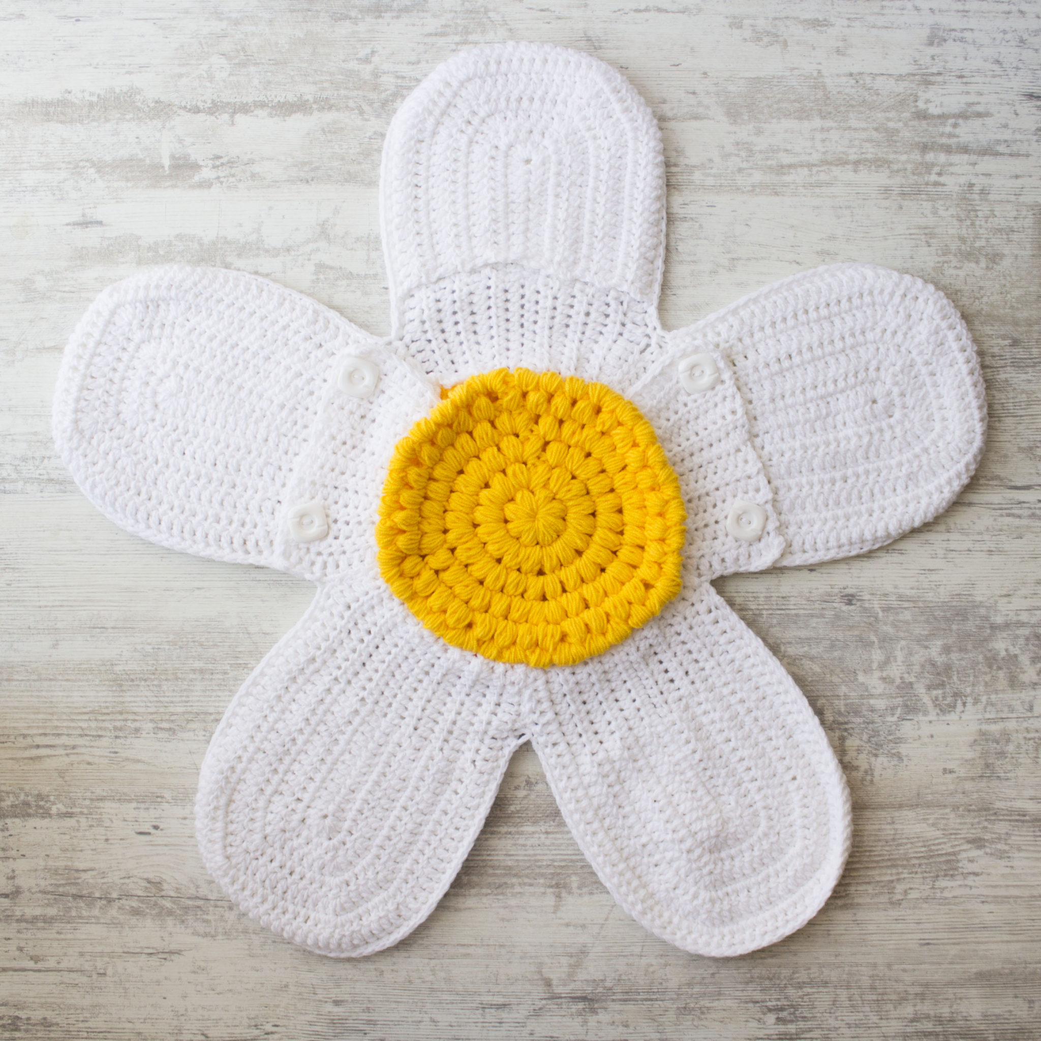 The Daisy Flower Crochet Cocoon Free Pattern My Accessory Box