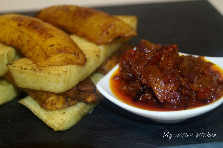fried yam recipe