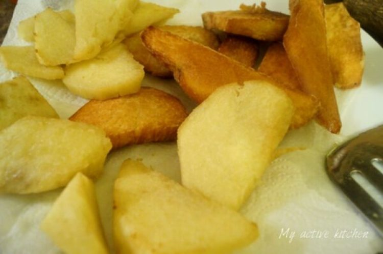 how to fry yam