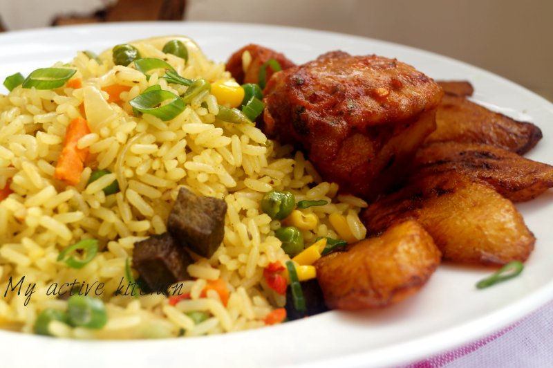 nigerian coconut fried rice 3