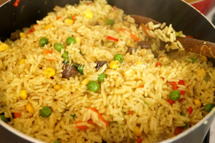 nigerian coconut fried rice my active kitchen