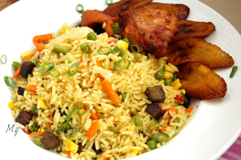 image how to cook nigerian coconut fried rice