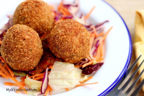 Yam Balls -Stuffed Yam Balls