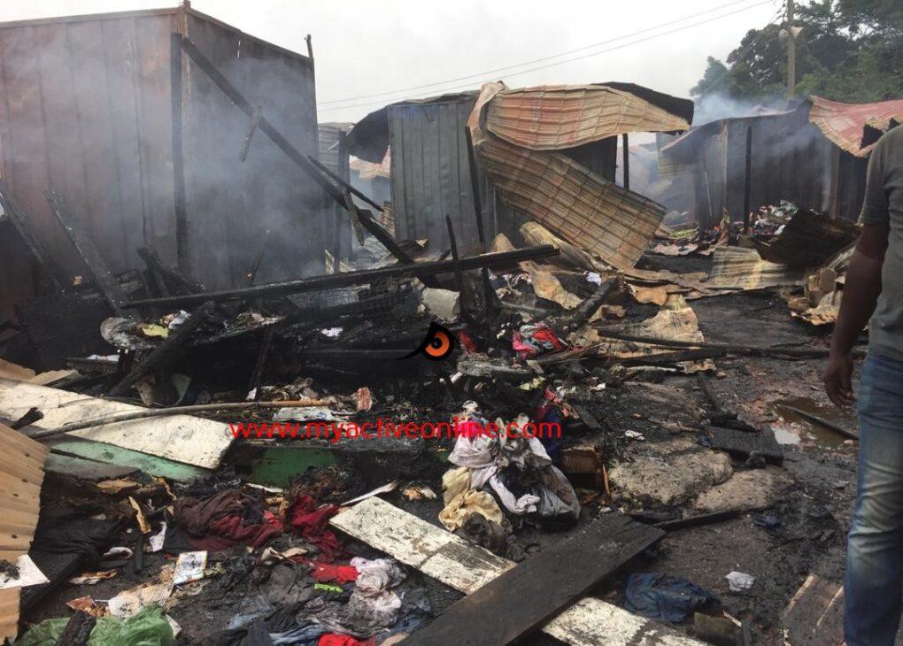 Fire Destroy Properties Worth Millions of Ghana Cedis At Circle Odawna Pedestrian Shopping Mall.