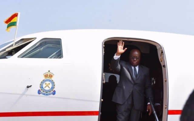 Akufo-Addo leaves Ghana for Ivory Coast, Guinea and UK