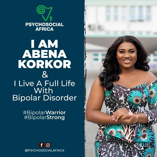 Abena Korkor a person living with Bipolar Disorder marks Word Bipolar Day with a message calling for strength for all to fight Bipolar