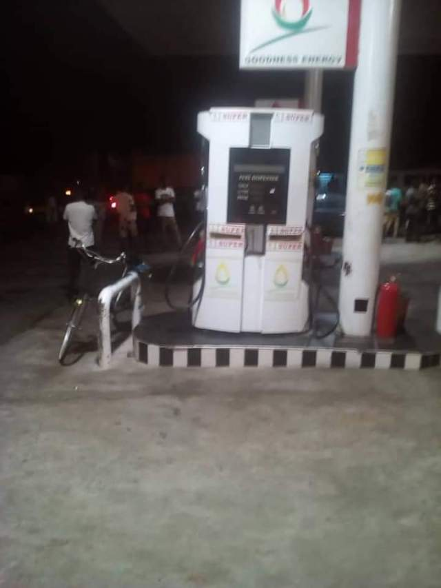 the filling station which was attacked