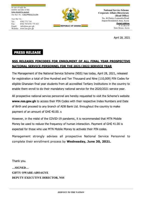NSS-statement