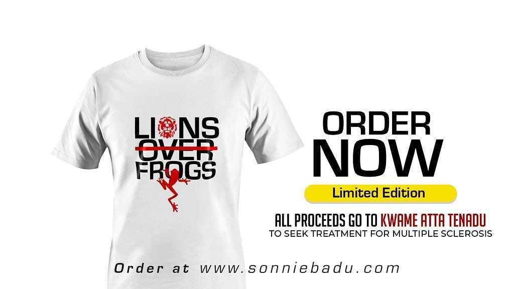 Sonnie Badu Sells T-shirt For GHS577 After Fake Degree Backlash
