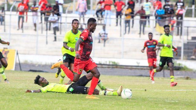 Kotoko vs Dreams FC in GPL week 23 at the Len Clay Stadium at Obuasi. Kotoko won by 3-1