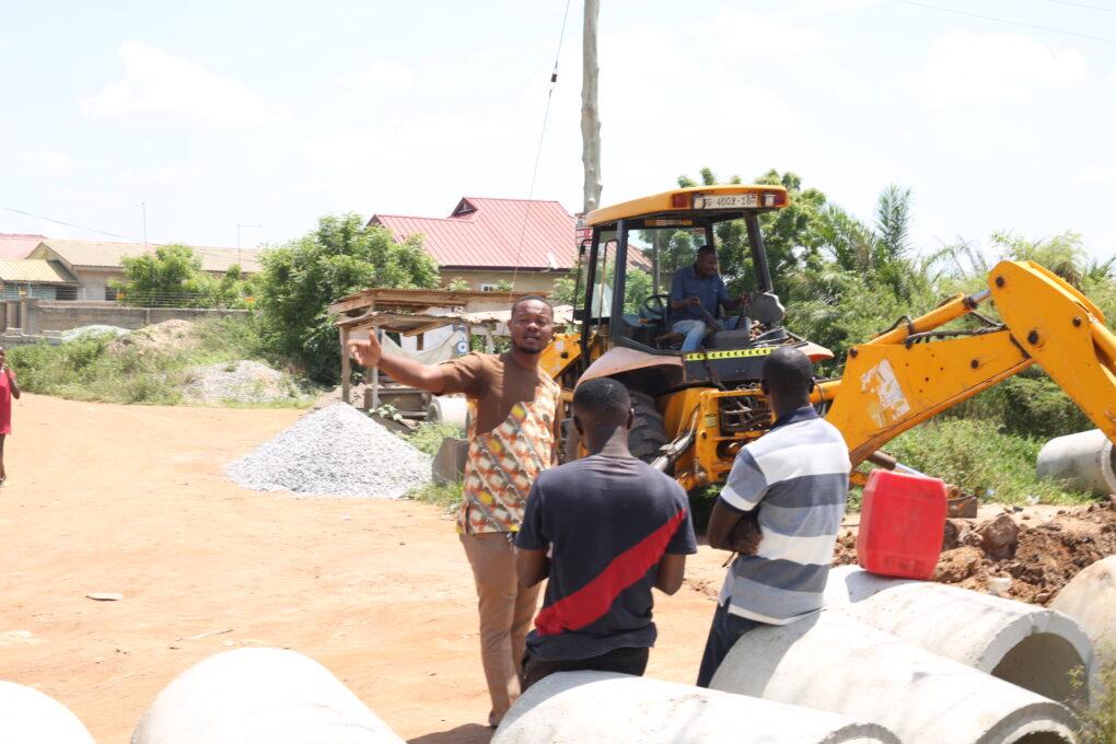 Residents Express Joy As Pure City Director Fixes Odumase-Oshuiman Road