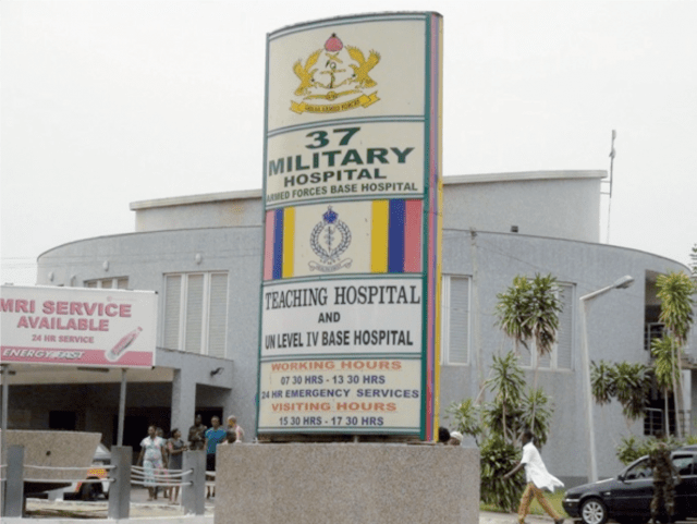 37 Military Hospital appeals to the public to help locate families of two patients on admission at the facility