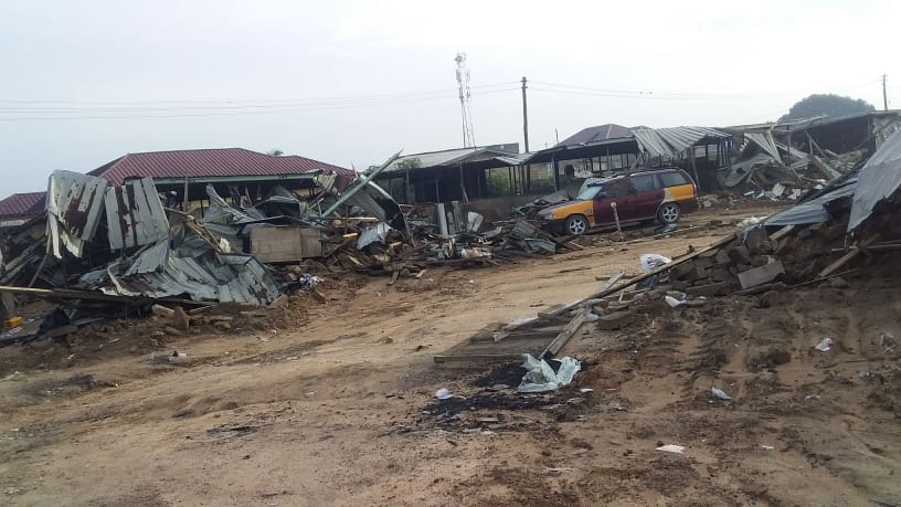 Alhaji Market Razed Down By Alleged 'Real Owners'