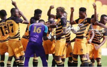 Ashanti Gold players celebrating