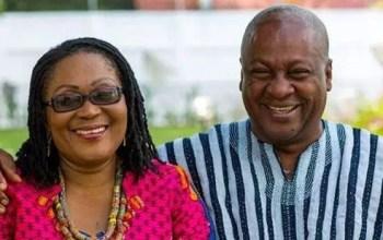 Lordina with her husbanc John Mahama
