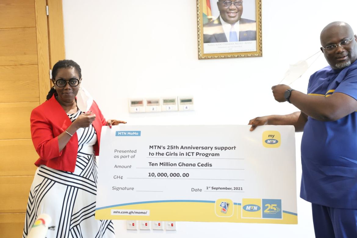 MTN Ghana supports Girl's in ICT with GHC10 million