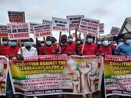 Public sector workers hit Tamale streets over poor treatment by the government