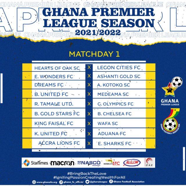 Week 1 Ghana Premier League fixtures