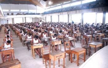 students writing examinations