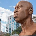 Sculpture of George Floyd at Union Square, New York