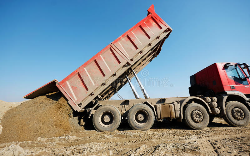 Tipper truck driver buries a toddler under construction sand